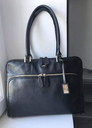 Кожаная сумка paul costelloe. можно под документы