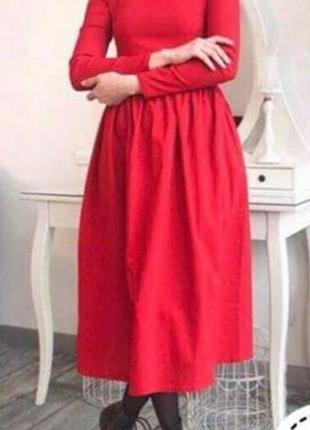 Мега красивое платье красного цвета!!! крой просто супер!4 фото
