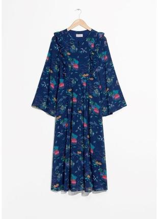 Трендовое платье миди парижская коллекция от премиального бренда & other stories