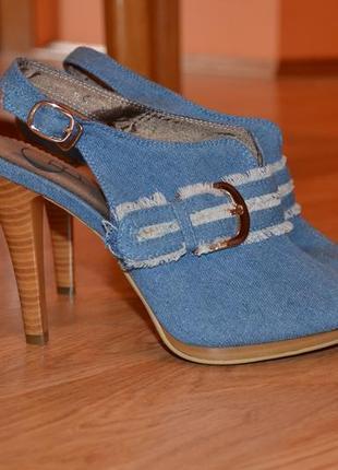 Джинсовые босоножки туфли новые! джинсові босоніжки