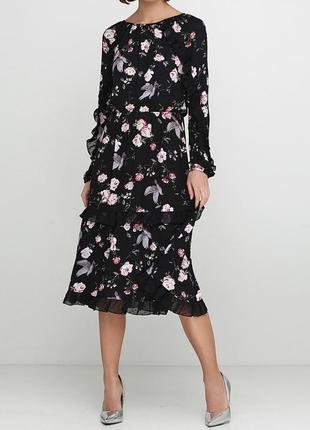 Милое летнее платье h&m с оборками.