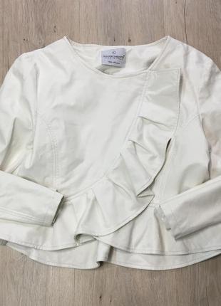 Белая курточка болеро