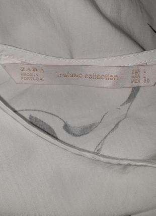 Эксклюзивный топ блузка рубашка zara принт аист6 фото
