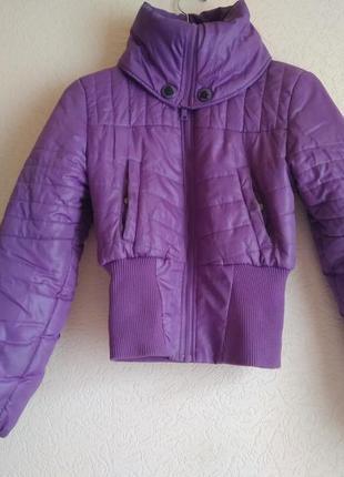 Женская стильная теплая демисезонная курточка oggi