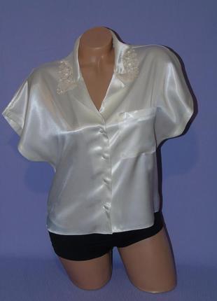 Блузочка в пижамном стиле 8-10 размера от marks & spencer