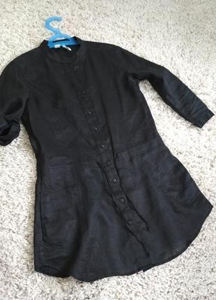 Актуальная стильная льняная рубашка туника, mango, p. 6-8