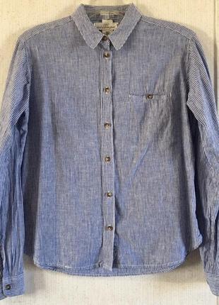 Льняная рубашка h&m logg