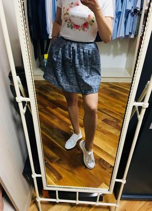 Короткая пышная юбка naf naf