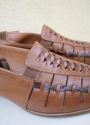 Кожаные босоножки сандали летние туфли