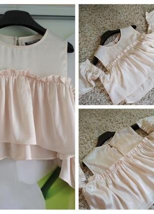 Стильная блуза с воланами и открытыми плечами, fashion union, p8-14