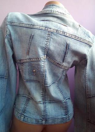Стильный джинсовый пиджак2 фото