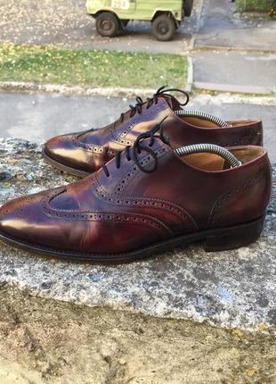 Barker of earls barton made england кожаные туфли, броги ручной роботы оригинал