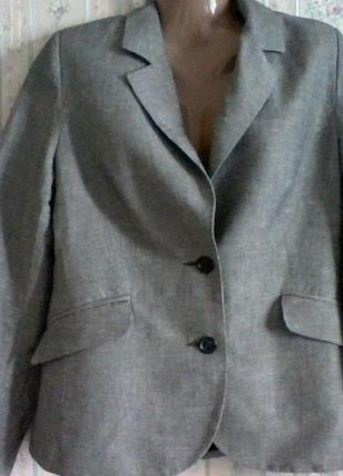 Пиджак льнянной на 2 пуговицы, разм. 48