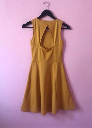 Шикарное желтое мини платье h&m. размер xs