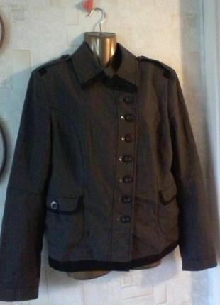 Шерстяной винтажный пиджак от marc aurel, разм. 46-48
