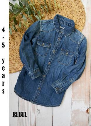 Джинсовая рубашка rebel 4-5 лет