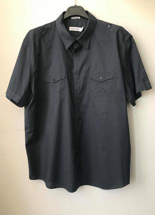Рубашка короткий рукав от известного бренда сalvin klein