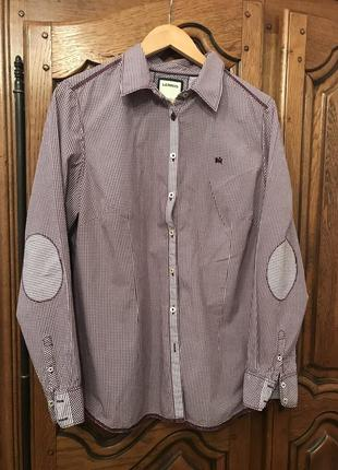 Рубашка в клетку и полоску