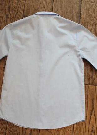 Новая рубашка небесно-голубого цвета george для мальчика р. 6-7 лет5 фото