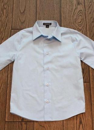 Новая рубашка небесно-голубого цвета george для мальчика р. 6-7 лет1 фото