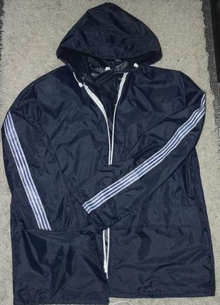 Ветровка дождевик курточка синяя3 фото