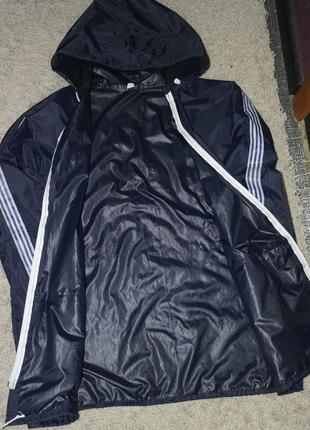 Ветровка дождевик курточка синяя4 фото