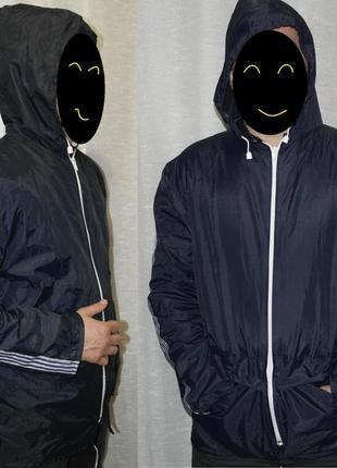 Ветровка дождевик курточка синяя