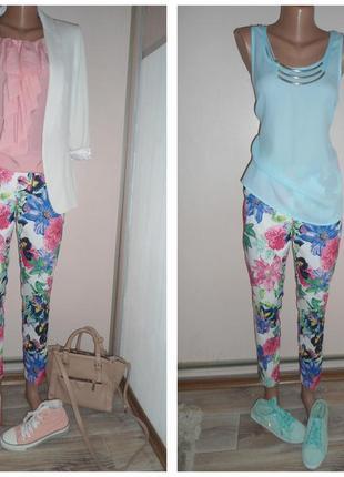 """Мега-модные  штаны цветы """"guess"""""""