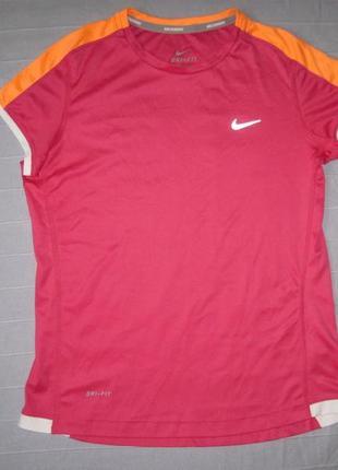 Nike dri-fit (146-156) беговая спортивная футболка детская
