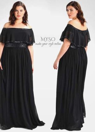 Роскошное вечернее платье с изящно оголенными плечами asos6 фото