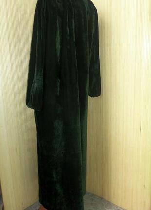 Зеоеное велюрлвое платье3 фото