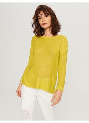 Стильный акриловый пуловер джемпер свитер reserved. xs