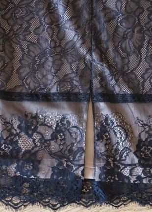 Шёлковая юбка от  zara  с мягкого кружева8 фото