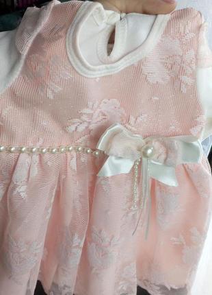 Новое нарядное платьице для малышки