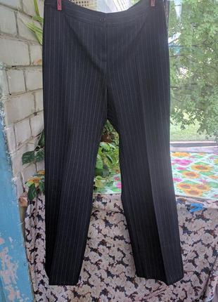 Классические черные прямые брюки на работу