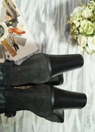 Geox. замша. классные ботинки на устойчивом каблуке3 фото