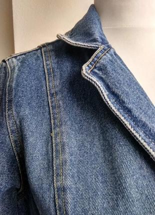 Джинсовый плащ котон 100% джинсовка котоновый тренч isolina's jeans  бойфренд джинсовка7 фото
