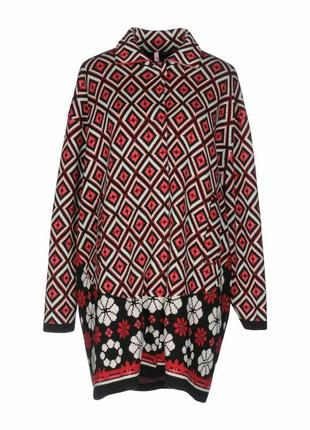 Пальто вязаное twin-set simona barbieri, р.xs. новый кардиган оверсайз