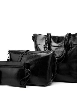 Набор женская сумка тоут 4 предмета l-16264 черная