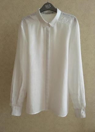 Льняная блуза с прошвой part two