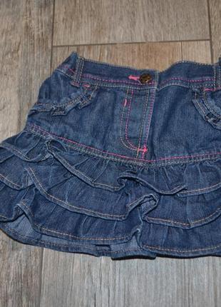 Юбка джинсовая george 2 года