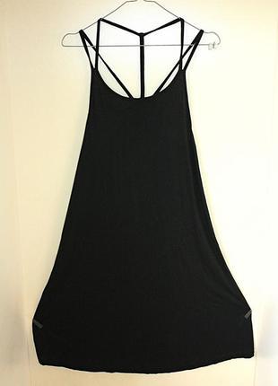 Черный сарафан летнее платье на тонких бретельках интересное плетение atmosphere (к050)