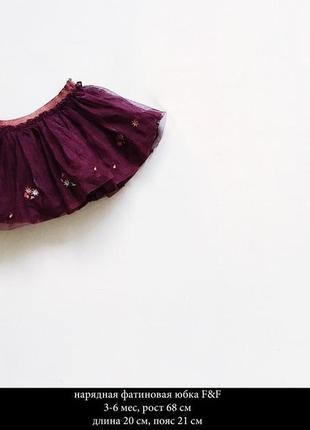Нарядная фатиновая юбочка
