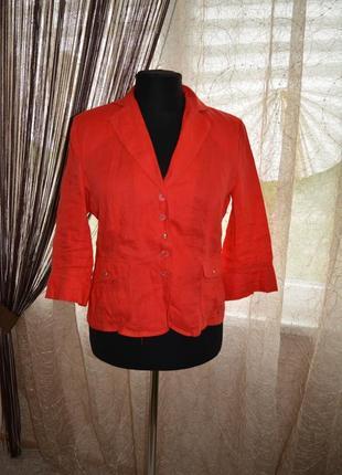 Приталенный натуральный летний пиджак, жакет, steilmann