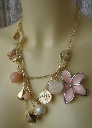 Ожерелье женское колье с подвесками