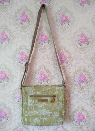 Натуральная сумочка в комплекте с кошельком