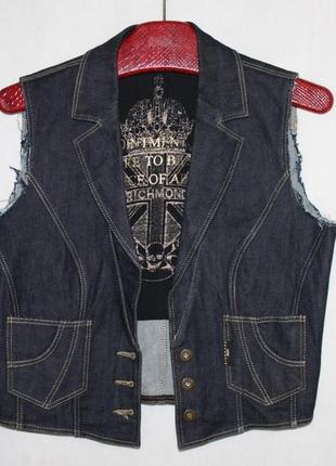 Модная брендовая жилетка джинс стрейч richmond италия