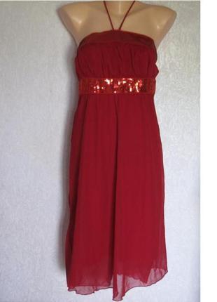 Красивое вечернее дизайнерское платье со стразами