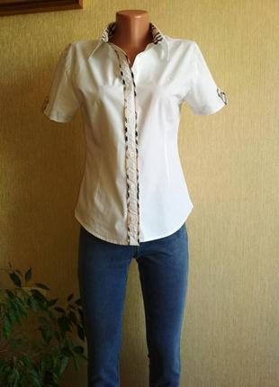 Брендовая базовая рубашка,р.38-40