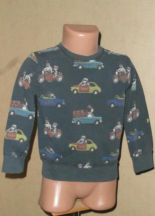 Свитшот, свитер, реглан  next на 2-3 года  без начеса тренить
